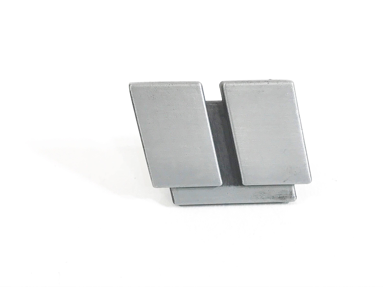 Modern Nickel Architectural Knobs Contemporary Drawer Pulls Kitchen Cabinet Hardware Modern Handle Vanity Drawer Pulls