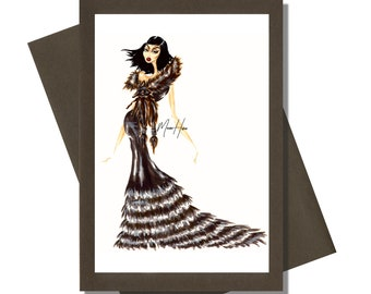 Glittery Greeting Cards Blank Cards Fashionista Greeting Cards Greeting Cards Handmade Greeting Cards Fashion Greeting Cards