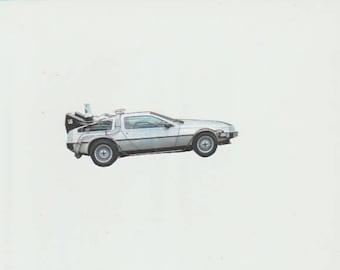 Back To The Future  DeLorean Sticker