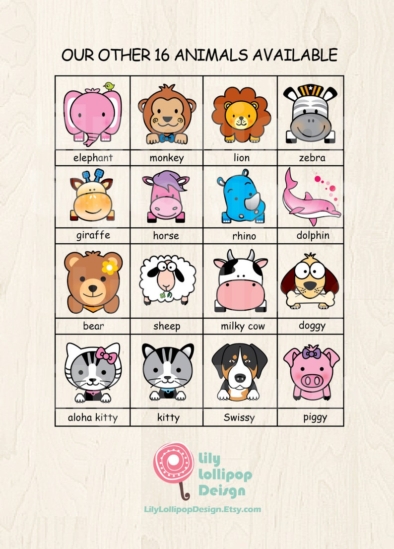 2 Bag Tags ELEPHANT LilyLollipopDesign-3 languages available-for Backpacks,Lunch Boxes,Diaper Bags or Luggage