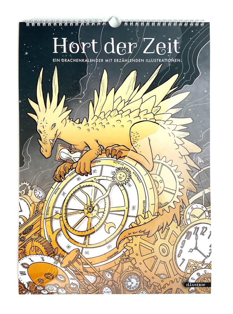 Large Fantasy Dragon Calendar with Narrative Illustrations  image 0