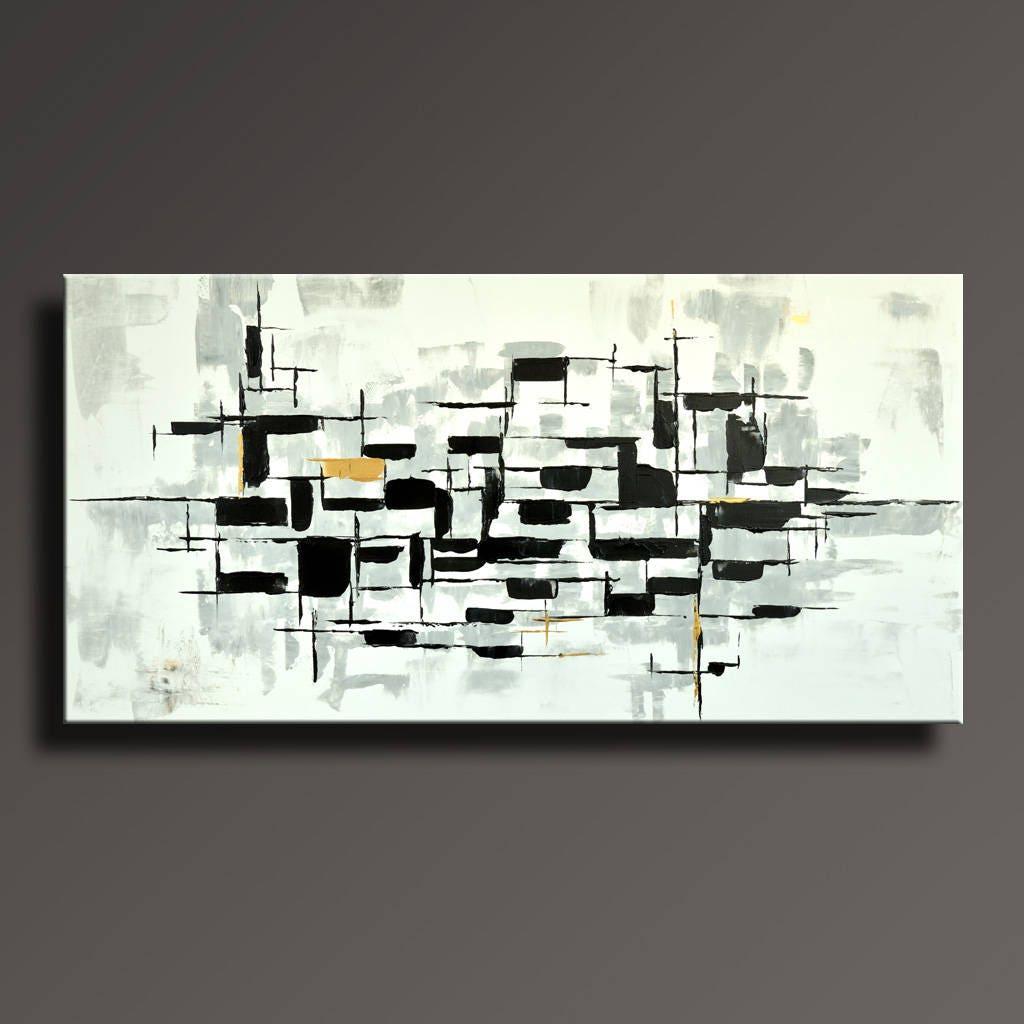 48 große ursprüngliche abstrakte Malerei auf Leinwand   Etsy
