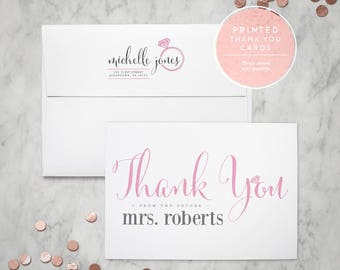 printed thank you cards bridal shower thank you from the future mrs