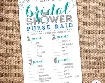 bling bridal shower purse raid game digital file