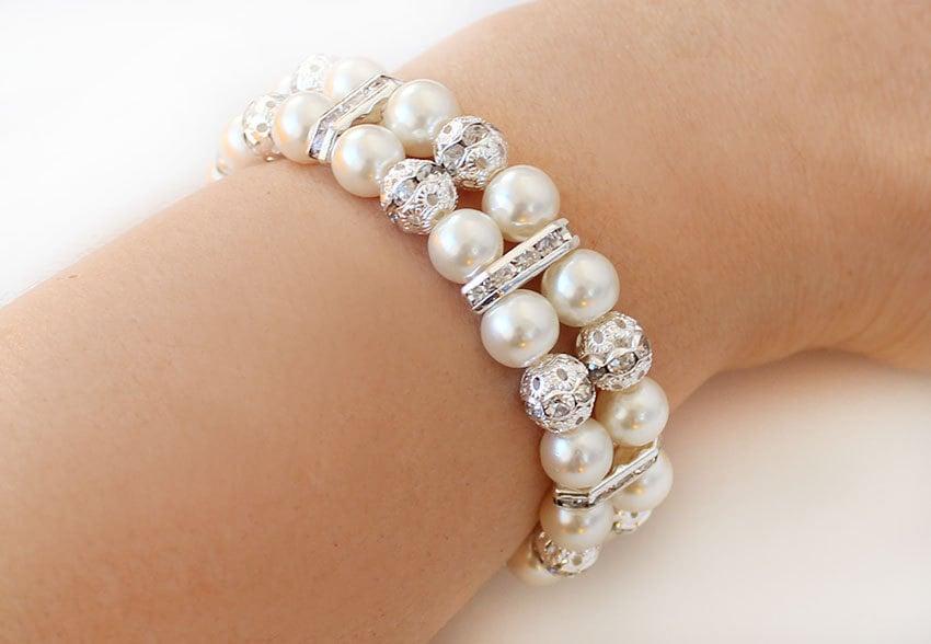 bracelet de perle cadeau de demoiselle d 39 honneur mariage. Black Bedroom Furniture Sets. Home Design Ideas
