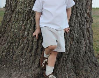 Khaki shorts - Khaki Pants -  Khaki Bow Tie - Toddler Bow Tie set - Boys Wedding Outfit - Ring Bearer Outfit