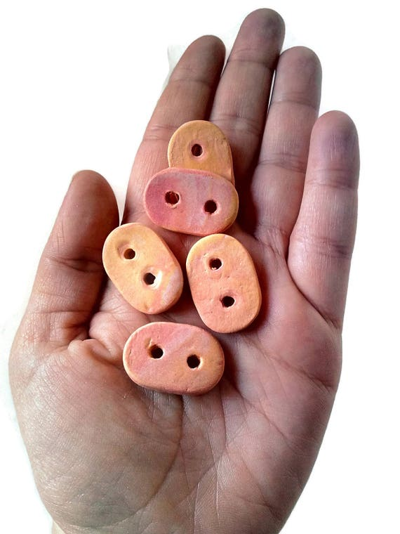Selection Of 20 Bright Coloured Wooden Car Buttons 2cm Brand New