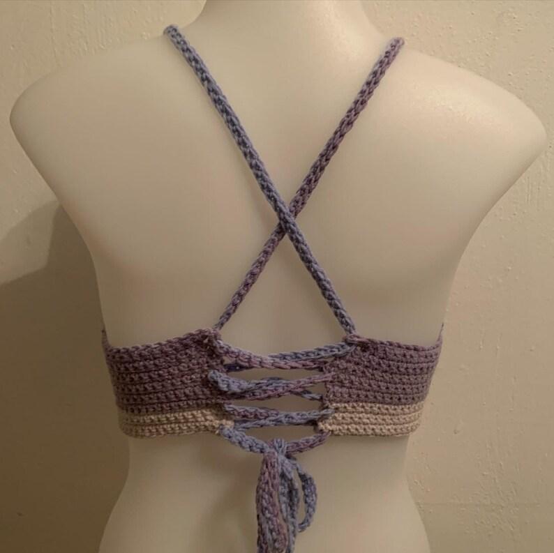 Handmade Crochet Ombre Bralette