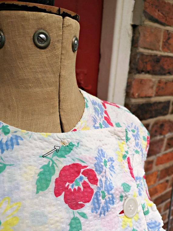 1940s seersucker cotton blouse   40s sportswear b… - image 10