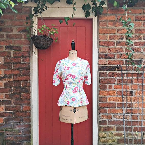1940s seersucker cotton blouse   40s sportswear b… - image 6
