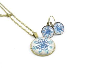 Set jewelry Snowflake Ice