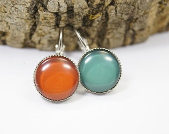 Earrings mismtched colour blocking