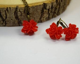 Set jewelry red