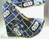 Star Wars Inspired Wedges - Custom Wedges - Women's Shoes - Wedge Pumps - Platform Wedges - Custom Shoes - Wedding - Birthday Gift - Shoes