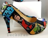 Star Wars Inspired High Heel Pumps - Women's Heels - Custom Heels - Custom Shoes - Wedding - Birthday Gift - Stilettos - Low Heel Pumps