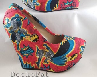 Batman Inspired Wedges