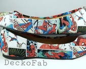 Spiderman Inspired Flats - Custom Flats - Ballet Flats - Women's Flats - Women's Shoes - Custom Shoes - Wedding - Birthday Gift - Shoes
