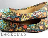 Dia De Los Muertos Flats - - Custom Flats - Ballet Flats - Women's Flats - Women's Shoes - Custom Shoes - Wedding - Birthday Gift - Shoes