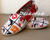 Betty Boop Inspired TOMS -  Custom Toms - Women's Custom Shoes - Canvas Shoes - Flats - Birthday Gift - Wedding - Shoes - Gift - Casual