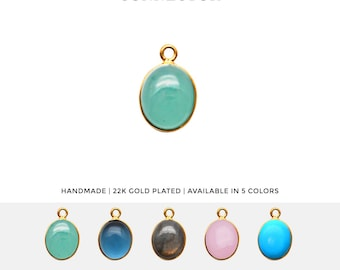 5 Pcs Natural Amazonite Briolette 9x13mm Gold Electroplated Single Bail Pendant,Handmade Jewelry Making Pendant
