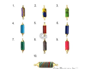Double Point Connector, Gold Plated Connector, Gemstone Pendant, Double Terminated Point Connector, Jewelry Making Supply GemMartUSA (14066)