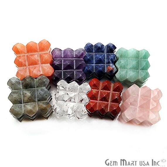 Square Gemstone, Metaphysical Crystal, Platonic Solid, Healing Stones, Wand  Pendant, Scared Geomatric, Energy Egyptian, GemMartUSA (14091)