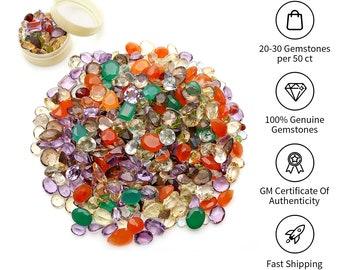 50 Carats Mixed Gem Loose Gemstones, Mixed Gem Stone, Multi Color Stone, Mix Shape Stones, Gemstones, GemMartUSA (MX-60001)