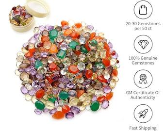 Mixed Loose Gemstones, Mixed Gem Stone, Multi Color Stone, Mix Shape Stones, Gemstone, Birthstone, Semi Precious stone GemMartUSA (MX-60001)