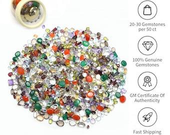 Over 50 Carats AAA Mixed Gem Natural Loose Gemstone Mix Lot Wholesale Loose Mixed Gemstones  GemMartUSA (MX-60003)