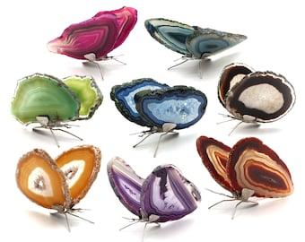 Agate Slice Butterfly, Home Decor, Boho Decor, Agate Slice, Butterfly Wings, Agate Geode, Gemstone Butterfly, GemMartUSA (BFLY)