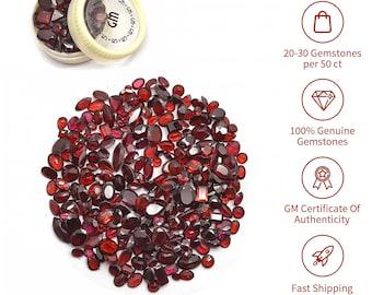 50cts Garnet Loose Gemstones, Garnet Stone, Red Stone, Mix Shape Stones, Gemstones, GemMartUSA (GT-60001)