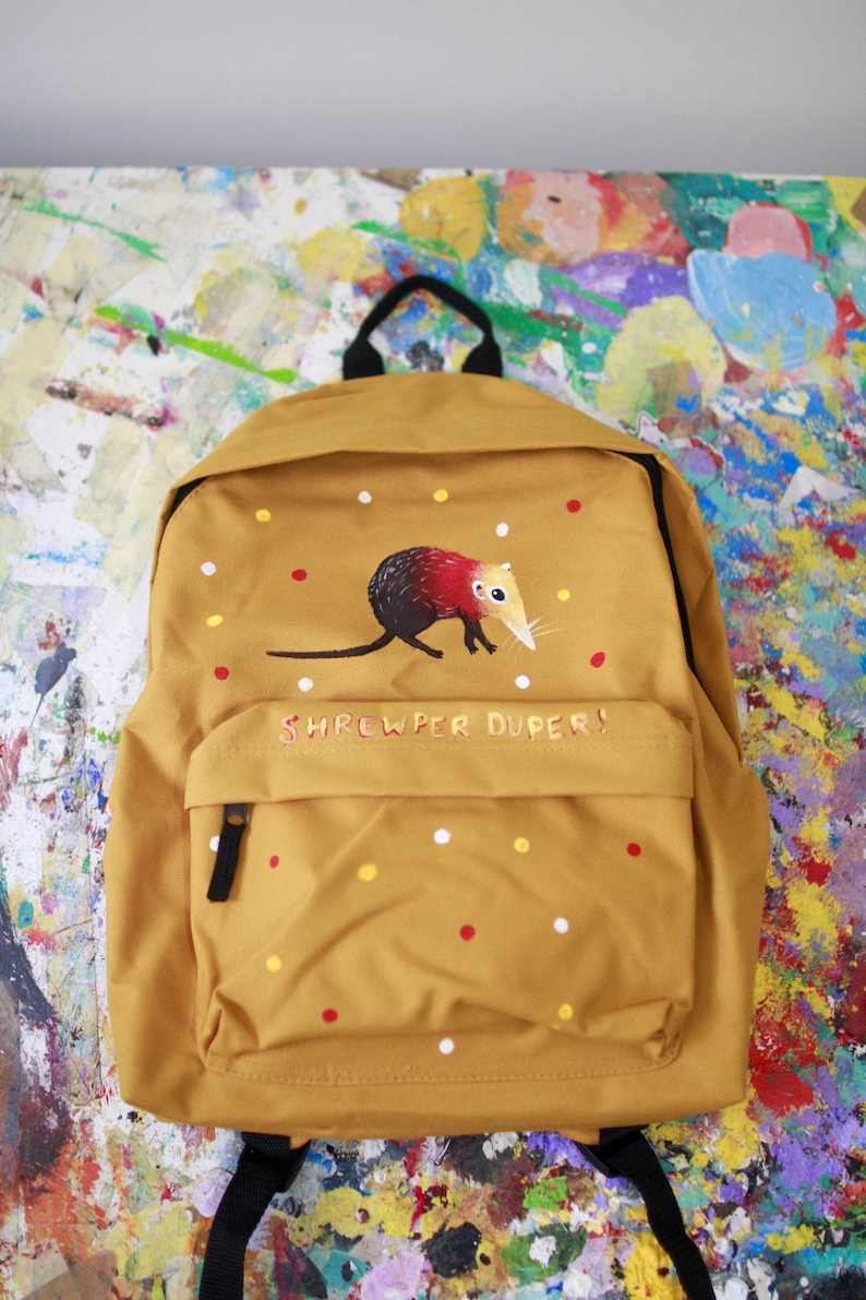 Hand Painted Shrew-per duper Backpack