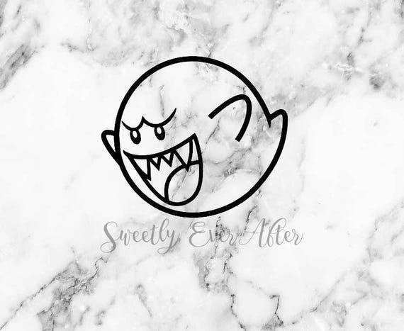 Mario Ghost Boo Decal Sticker Mario Decal Video Game Decal Etsy