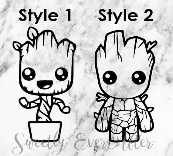 Baby Groot Decal Sticker Guardians Of The Galaxy Decal Etsy