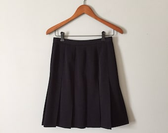 MIDNIGHT BLUE schoolgirl skirt | accordion pleated mini skirt | skater skirt