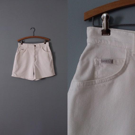 CHALK white shorts | high waisted shorts | denim w
