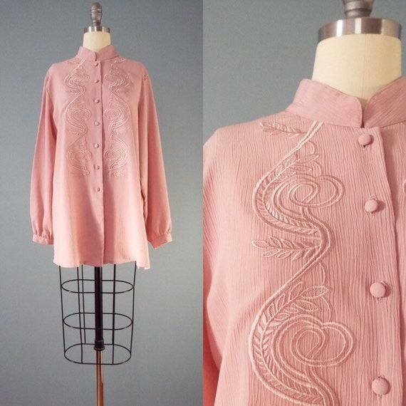 DUSTY rose tunic blouse