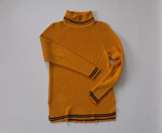 MUSTARD pullover sweater | 1980s soft cotton sweat
