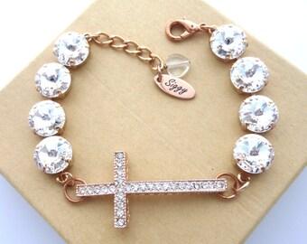 Swarovski® Crystal Cross Bracelet c35fce257e6f
