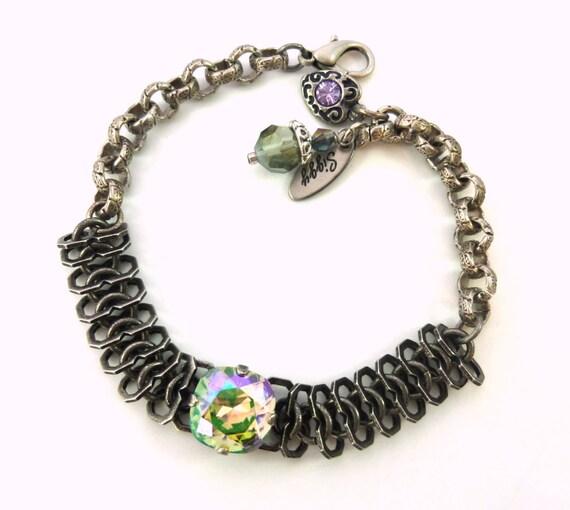 Thick Chain Link Bracelet with 12mm Swarovski Elements  4de1a3687c