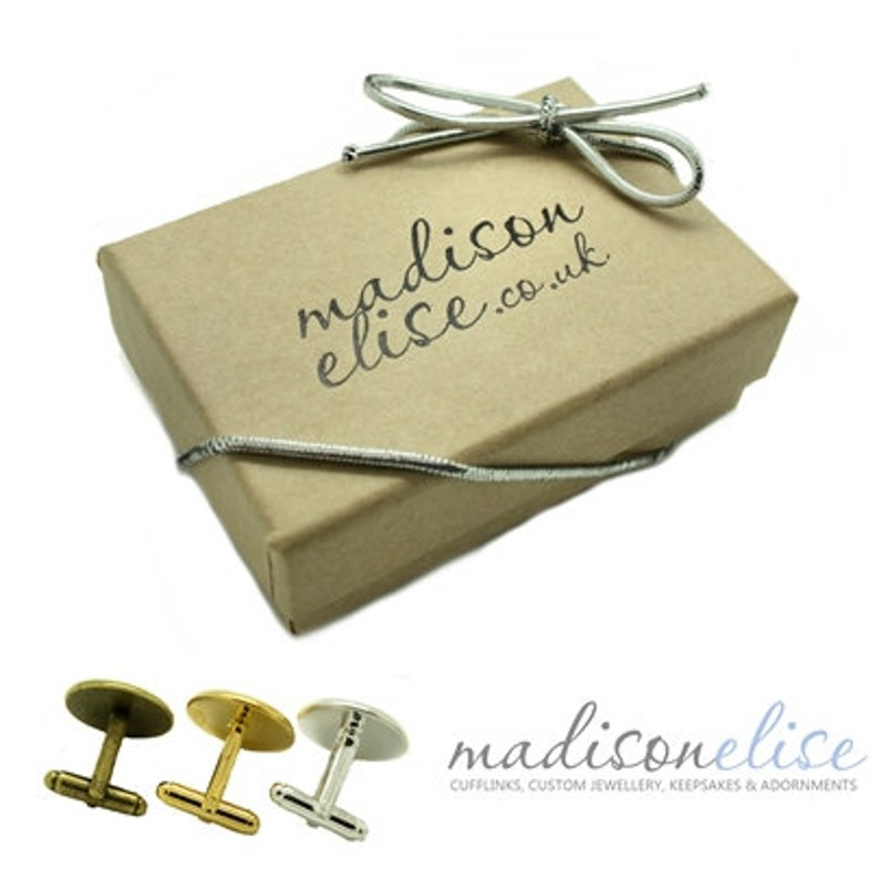Luckiest Man Groom Cufflinks 3 Colours Bezels Available Wedding Day Husband Fiance Keepsake Gift WHITE