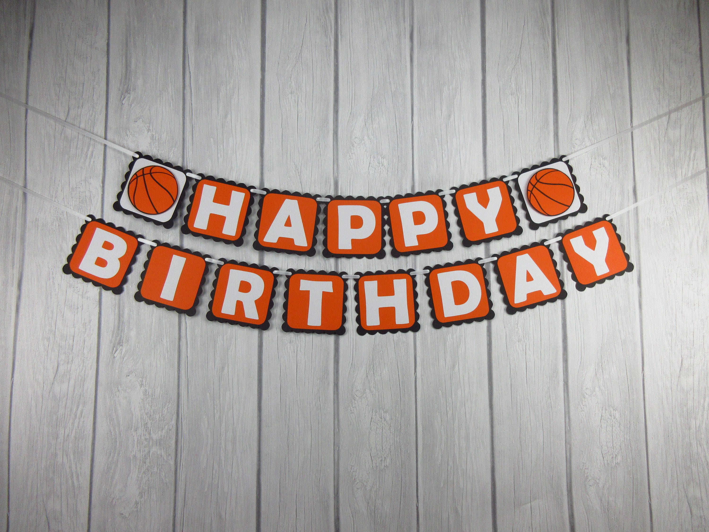 happy birthday basketball Basketball Happy Birthday Banner Basketball Banner | Etsy happy birthday basketball