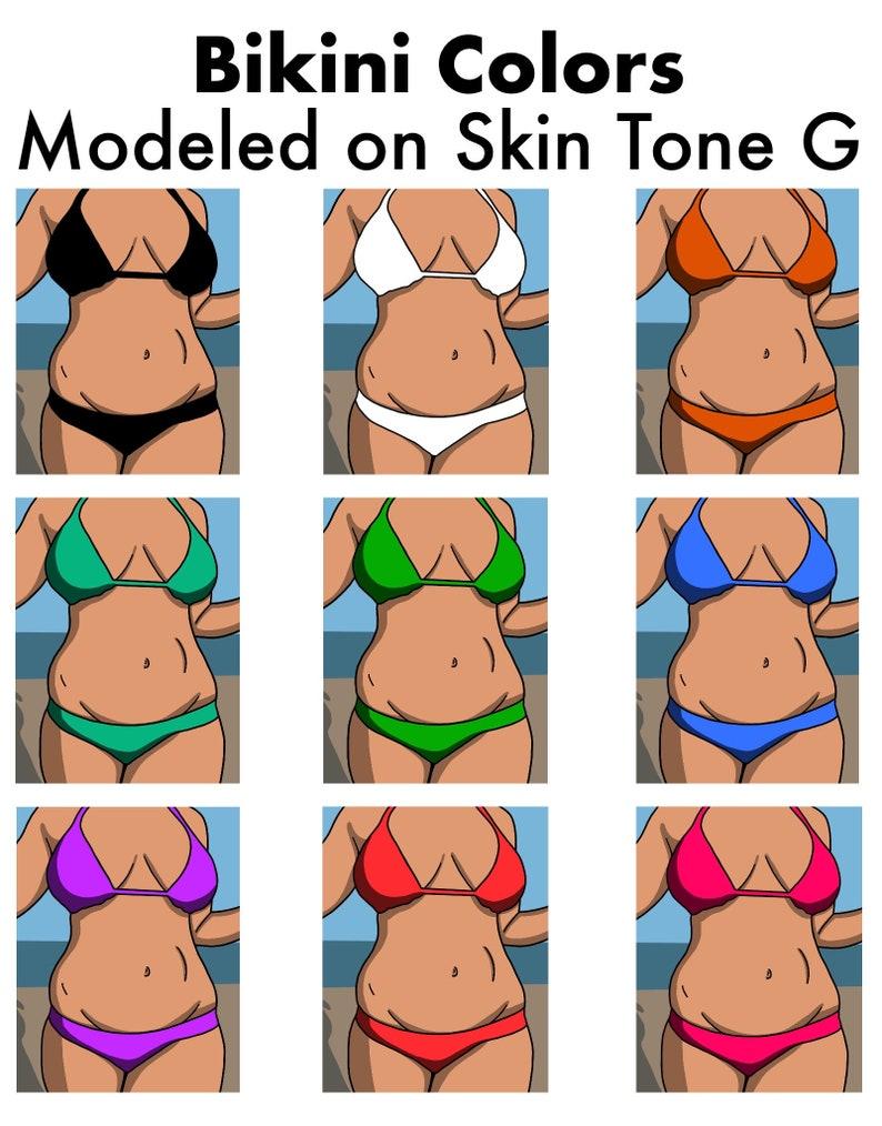 Plus Size Model Choose Skin Tone /& Bikini Color Digital Download Printable Wall Art Custom Swimsuit Custom Bikini Mid Size Model