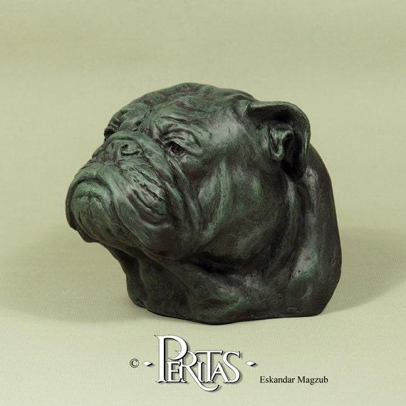 Hand Painted English Bulldog Dog Bulldog Anglais Peritas Fine Etsy