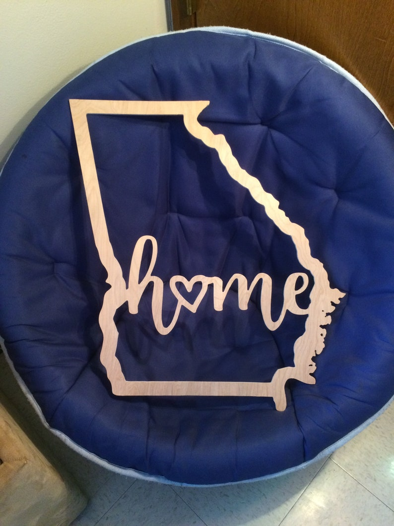 Georgia State Outline with word Home SVG Vector File Wall image 0