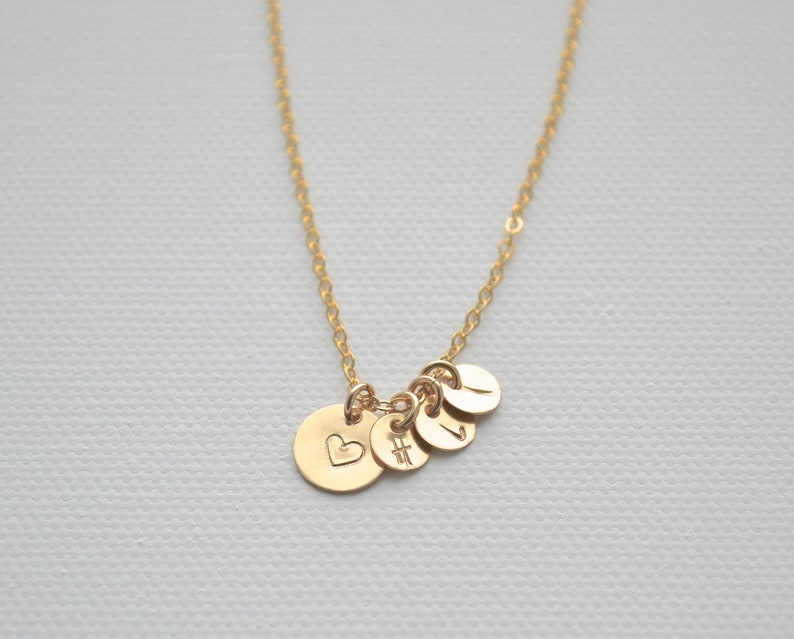 14k Gold Filled Stamped Necklace Chain Charm