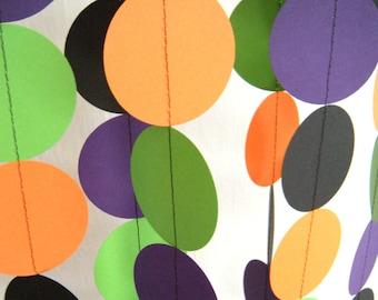 Halloween Paper Garland - Orange, Green, Purple and Black