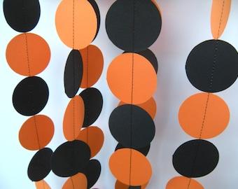 Halloween Paper Garland - Orange and Black