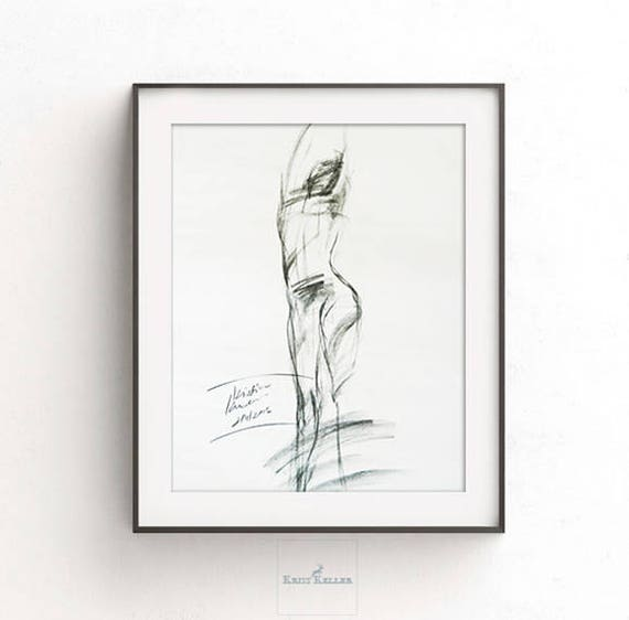 Small Digital Print Drawing Printable Wall Art Sketch Etsy