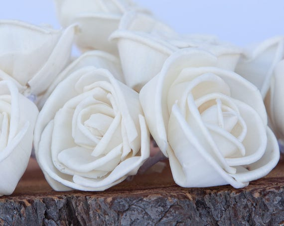 Rosebud Sola Flowers - Available in Set of 10, 50 and 100